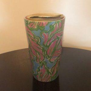 Lilly Pulitzer travel coffee mug
